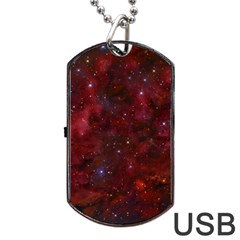 Abstract Fantasy Color Colorful Dog Tag Usb Flash (one Side)