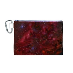 Abstract Fantasy Color Colorful Canvas Cosmetic Bag (m)