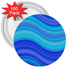 Blue Background Water Design Wave 3  Buttons (100 Pack)