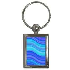 Blue Background Water Design Wave Key Chains (rectangle)