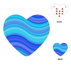 Blue Background Water Design Wave Playing Cards (heart)