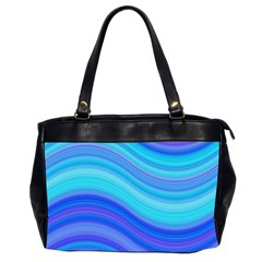 Blue Background Water Design Wave Office Handbags (2 Sides)