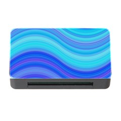Blue Background Water Design Wave Memory Card Reader With Cf