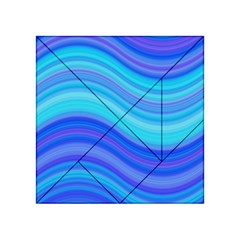 Blue Background Water Design Wave Acrylic Tangram Puzzle (4  X 4 )