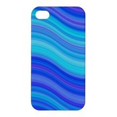 Blue Background Water Design Wave Apple Iphone 4/4s Premium Hardshell Case