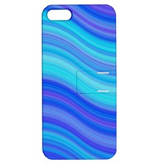 Blue Background Water Design Wave Apple Iphone 5 Hardshell Case With Stand