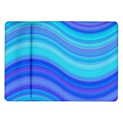 Blue Background Water Design Wave Samsung Galaxy Tab 10 1  P7500 Flip Case