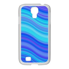 Blue Background Water Design Wave Samsung Galaxy S4 I9500/ I9505 Case (white)