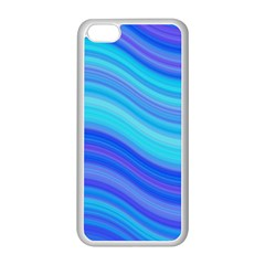 Blue Background Water Design Wave Apple Iphone 5c Seamless Case (white)