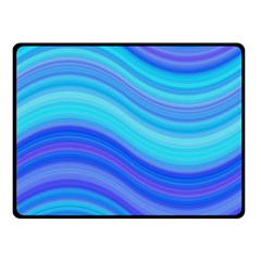 Blue Background Water Design Wave Double Sided Fleece Blanket (small)