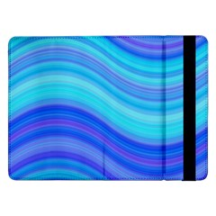 Blue Background Water Design Wave Samsung Galaxy Tab Pro 12 2  Flip Case