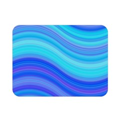 Blue Background Water Design Wave Double Sided Flano Blanket (mini)