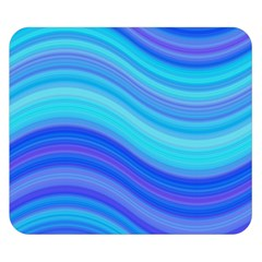 Blue Background Water Design Wave Double Sided Flano Blanket (small)