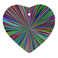 Burst Colors Ray Speed Vortex Ornament (heart)