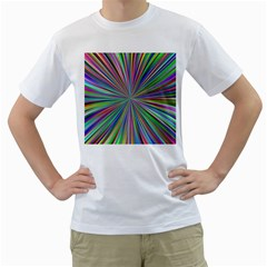 Burst Colors Ray Speed Vortex Men s T Shirt (white) (two Sided)