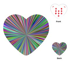 Burst Colors Ray Speed Vortex Playing Cards (heart)