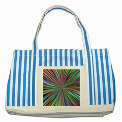 Burst Colors Ray Speed Vortex Striped Blue Tote Bag