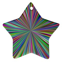 Burst Colors Ray Speed Vortex Star Ornament (two Sides)