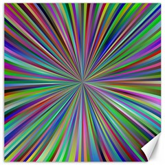 Burst Colors Ray Speed Vortex Canvas 20  X 20