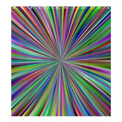 Burst Colors Ray Speed Vortex Shower Curtain 66  X 72  (large)