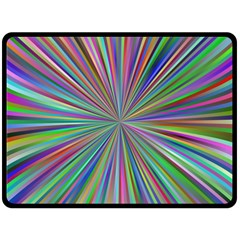 Burst Colors Ray Speed Vortex Fleece Blanket (large)