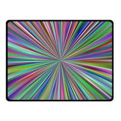 Burst Colors Ray Speed Vortex Fleece Blanket (small)