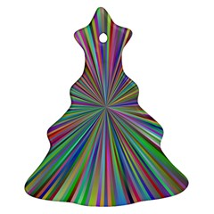 Burst Colors Ray Speed Vortex Christmas Tree Ornament (two Sides)