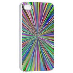 Burst Colors Ray Speed Vortex Apple Iphone 4/4s Seamless Case (white)