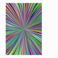 Burst Colors Ray Speed Vortex Small Garden Flag (two Sides)