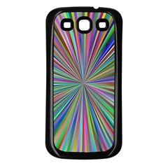 Burst Colors Ray Speed Vortex Samsung Galaxy S3 Back Case (black)