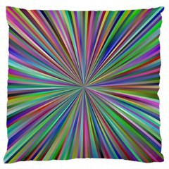 Burst Colors Ray Speed Vortex Large Flano Cushion Case (one Side)