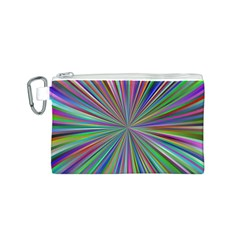 Burst Colors Ray Speed Vortex Canvas Cosmetic Bag (s)