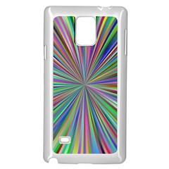 Burst Colors Ray Speed Vortex Samsung Galaxy Note 4 Case (white)