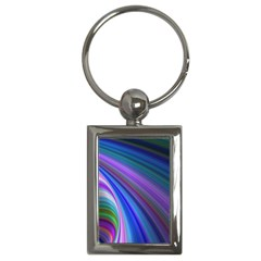 Background Abstract Curves Key Chains (rectangle)