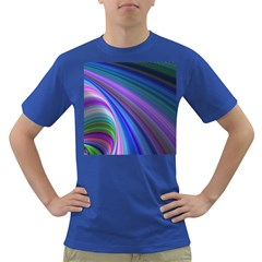 Background Abstract Curves Dark T Shirt