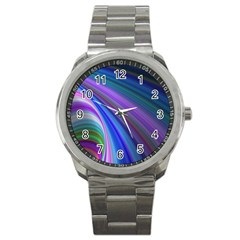 Background Abstract Curves Sport Metal Watch