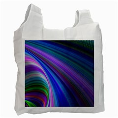 Background Abstract Curves Recycle Bag (two Side)