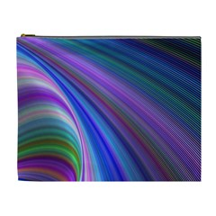 Background Abstract Curves Cosmetic Bag (xl)