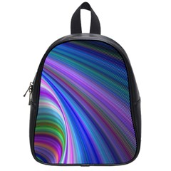 Background Abstract Curves School Bag (small)