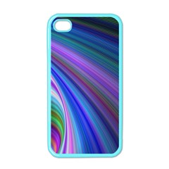 Background Abstract Curves Apple Iphone 4 Case (color)