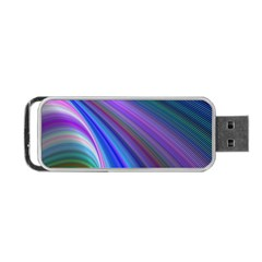 Background Abstract Curves Portable Usb Flash (one Side)