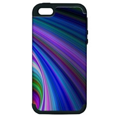 Background Abstract Curves Apple Iphone 5 Hardshell Case (pc+silicone)