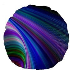 Background Abstract Curves Large 18  Premium Round Cushions