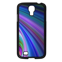 Background Abstract Curves Samsung Galaxy S4 I9500/ I9505 Case (black)