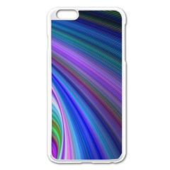 Background Abstract Curves Apple Iphone 6 Plus/6s Plus Enamel White Case