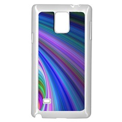 Background Abstract Curves Samsung Galaxy Note 4 Case (white)