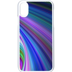Background Abstract Curves Apple Iphone X Seamless Case (white)
