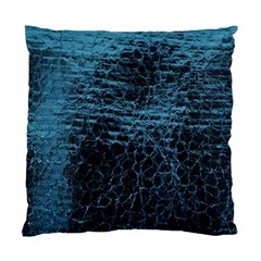 Blue Black Shiny Fabric Pattern Standard Cushion Case (two Sides)