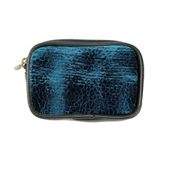 Blue Black Shiny Fabric Pattern Coin Purse