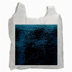 Blue Black Shiny Fabric Pattern Recycle Bag (two Side)